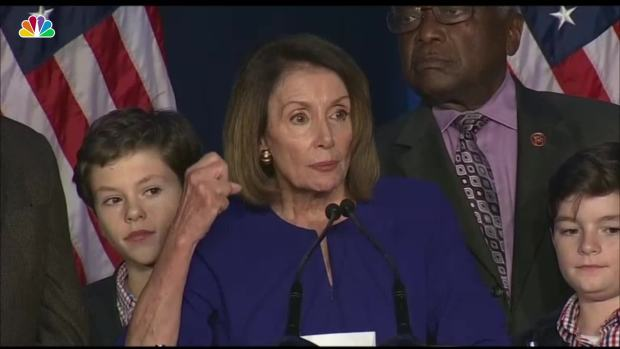 [NATL] Pelosi Preaches Unity After Dems Take House