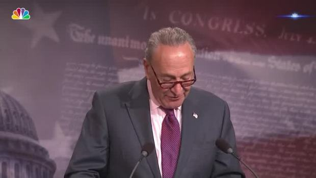 [NATL] US Sen. Schumer Gives Thanks to McCain, Murkowski and Collins