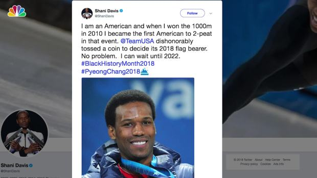 Speedskater Shani Davis Upset With Flag Bearer Decision