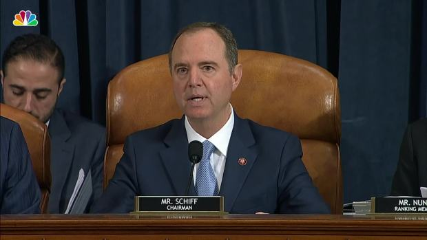 [NATL] WATCH: Schiff's Opening Statement From Impeachment Hearing With Hill and Holmes