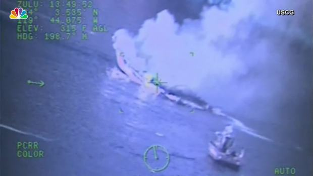 [NATL] US Coast Guard Footage Shows Boat Fire During Attempted Rescue