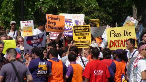 Lafayette Park Immigration Demonstration