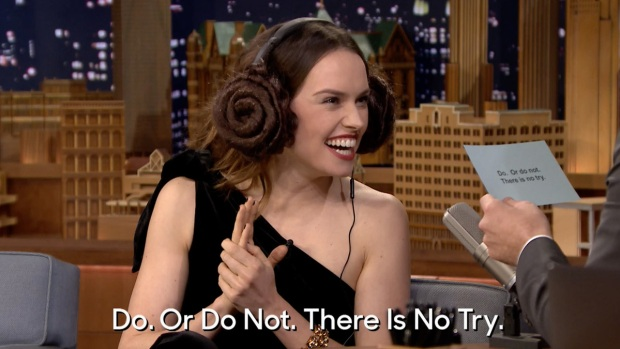 Tonight:'Star Wars Whisper Challenge with Daisy Ridley