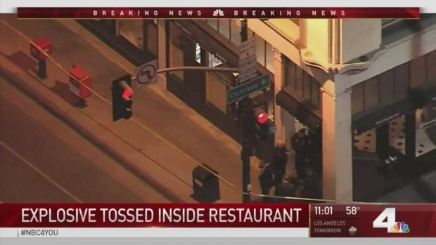 [LA] Explosive Tossed Inside Pasadena Restaurant