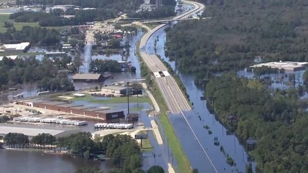 [NATL] Aerial Footage Shows Devastating Flooding in N.C.