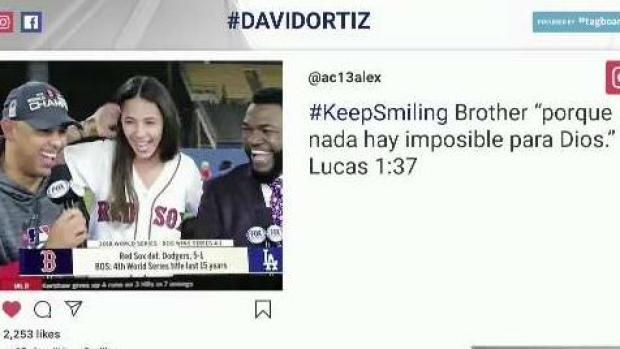Fans, Colleagues Show Support to David Ortiz