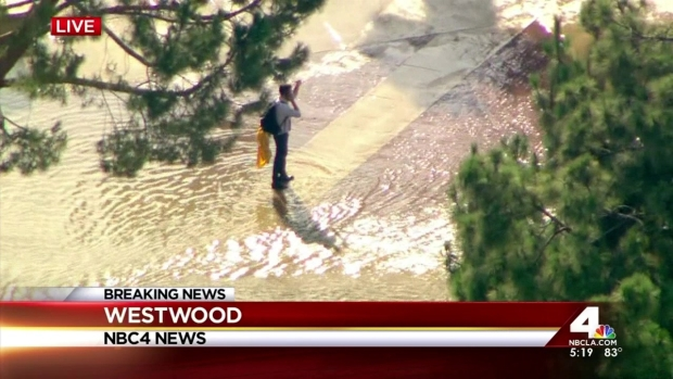 [LA] Busy UCLA Campus Flooded by Water Main Rupture