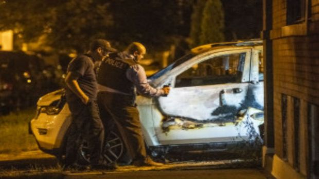 Gunman's Car Found Incinerated After Fatal Shooting in Back of the Yards