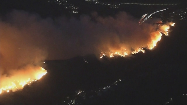 Brush fire north of Los Angeles forces evacuations