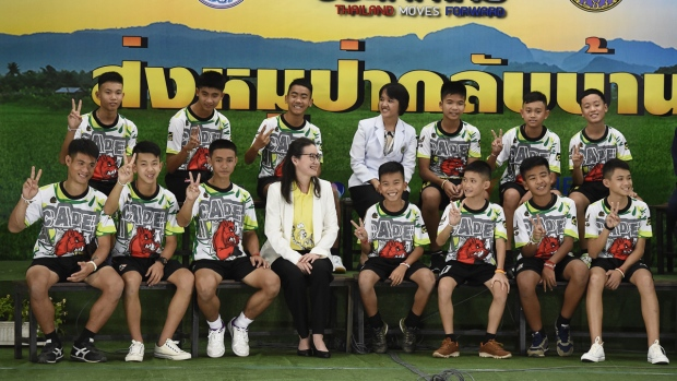 [NATL] Top News Photos: Thai Soccer Team Holds Press Conference After Release From Hospital