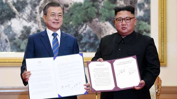 [NATL] Top News Photos: Koreas Strike Provisory Deal to Dismantle N. Korea Nuke Site
