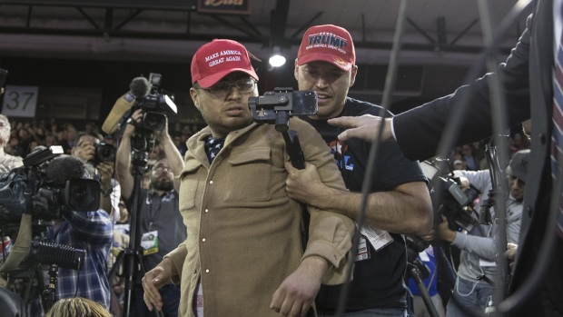 [NATL] Trump Supporter Storms Media Pen at Texas Rally