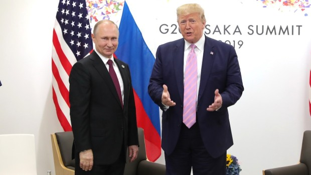 [NATL] Trump Jokes to Putin: 'Don't Meddle With the Elections'