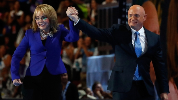 [NATL] Watch the Moment Where Gabby Giffords Walks Onstage at the DNC