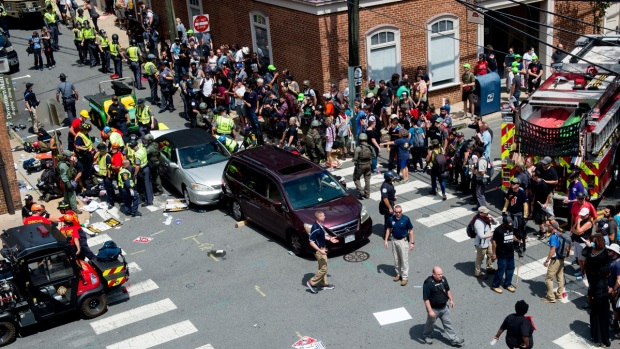 Driver charged with killing 1, injuring many others identified in Charlottesville violence