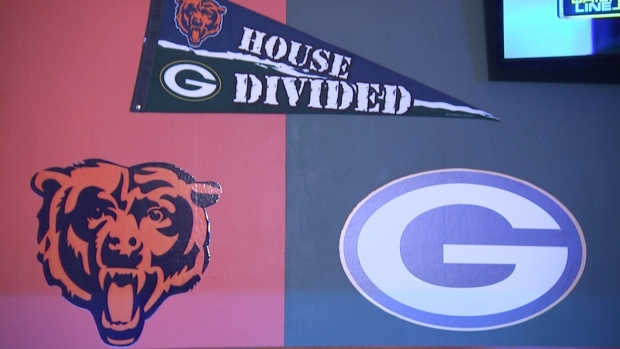 House Divided: See How a Die-Hard Bears-Packers Couple Decorated Their Home