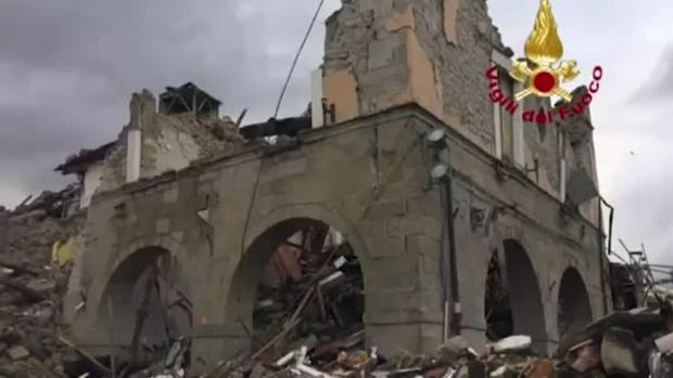 [NATL] Historic Buildings Crumble in Italian Earthquake