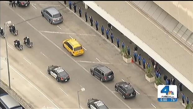 [LA] Memorial Held For Slain TSA Officer