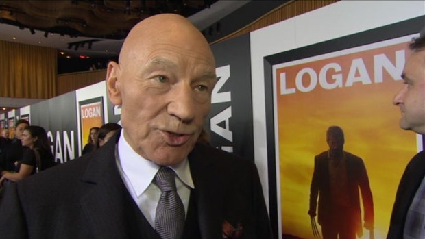 [NATL] Patrick Stewart at 'Logan' Screening