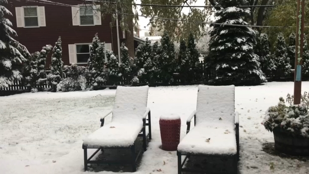 Your October Snow Photos From Around the Chicago Area