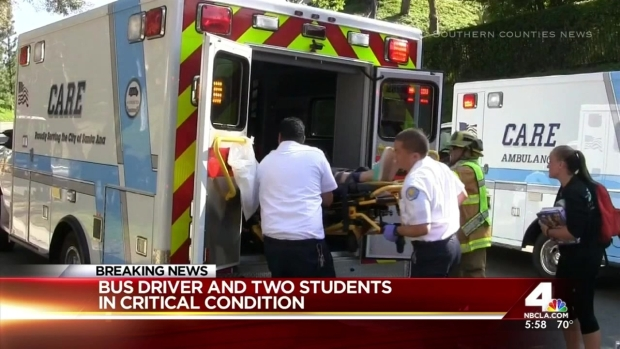 [LA] 12 Injured in OC School Bus Crash