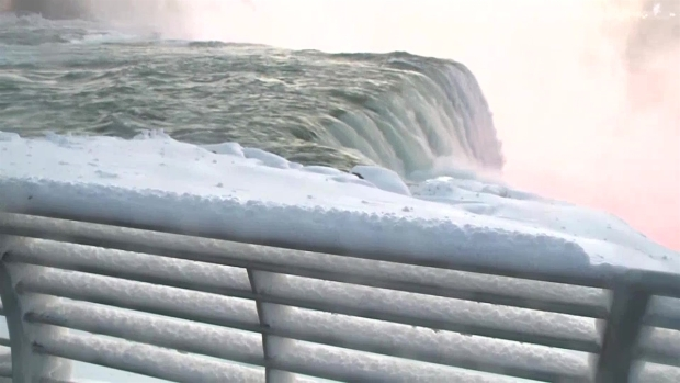 Frigid Weather Turns Niagara Falls Into a Winter Wonderland