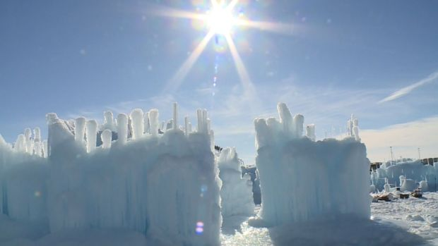 [NATL] An Ice Castle Rises in Wisconsin