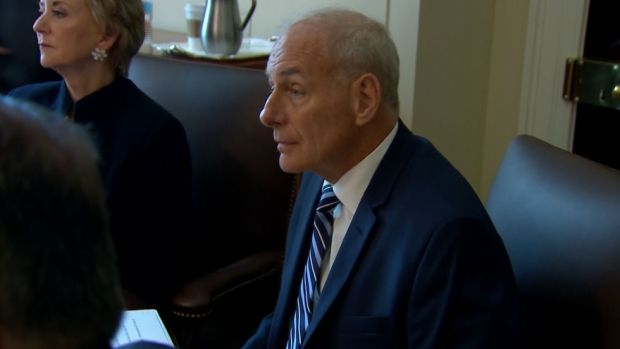 John Kelly Begins First Full Day On The Job