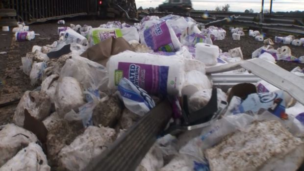 Unfortunate Truck Spills: Toilet Paper Rolls