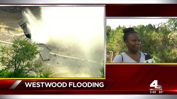 """[LA] UCLA Students """"Knee-Deep"""" in Water After Main Break"""