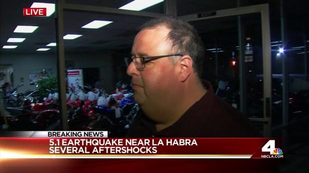 [LA] La Habra Councilman Reacts to 5.1 Earthquake