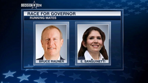 [CHI] Bruce Rauner Picks Wheaton's Sanguinetti as Running Mate