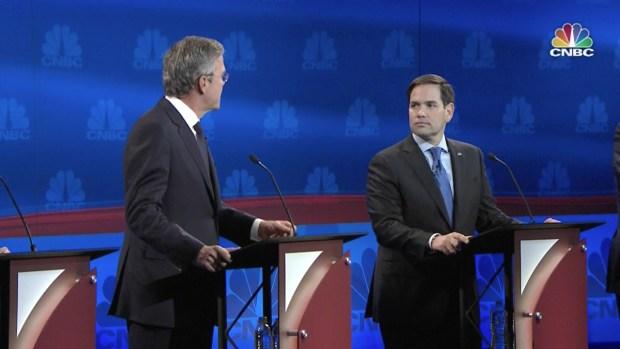Bush and Rubio Spar in Republican Debate