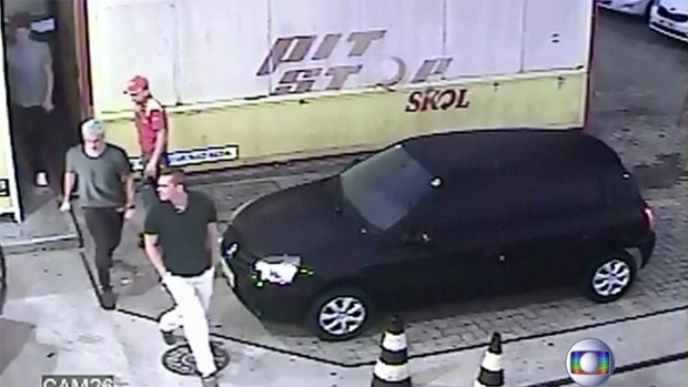 Security Footage From Gas Station