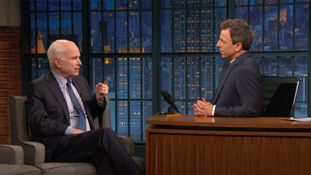 Late Night: Mc Cain Approves of Trump's Strike on Syria