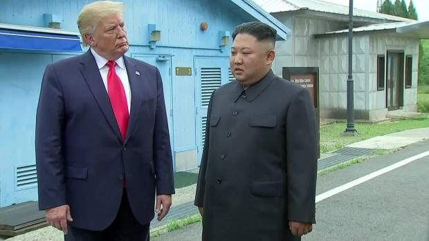 [NATL] Trump, Kim Cross Into North Korea at the DMZ