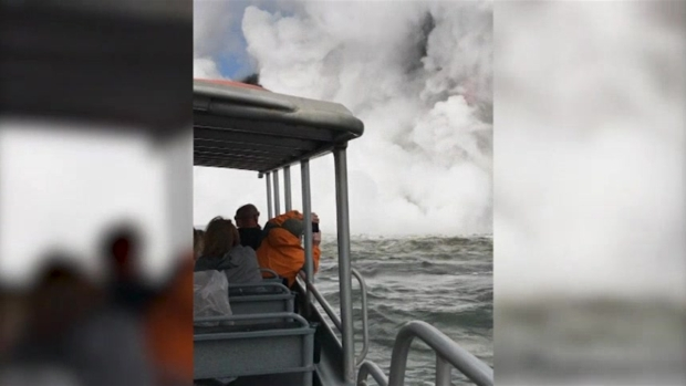 [NATL] Giant Lava Stream Explodes into Ocean in Hawaii
