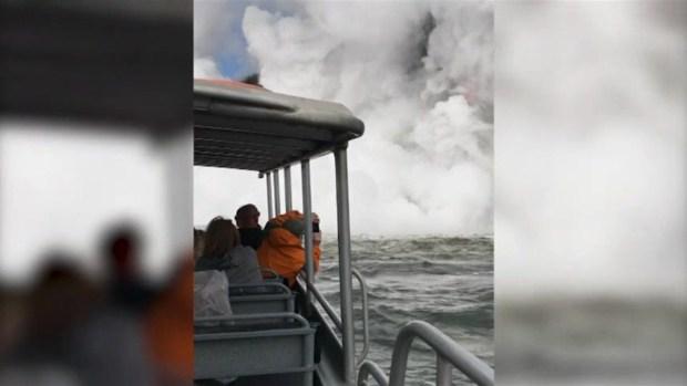 [NATL] Giant Lava Stream Explodes into Ocean in Hawaii