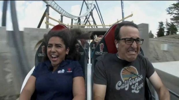 [CHI] Watch Lisa Chavarria, NBC 5 Photographer Hilariously Take on New Six Flags Roller Coaster