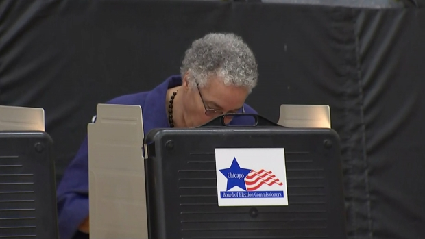 Preckwinkle Casts Her Ballot in Runoff Election