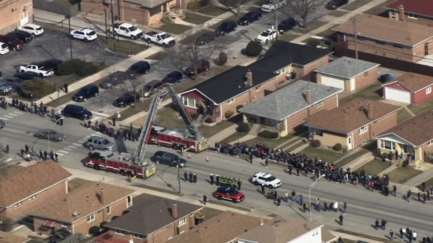 [CHI] Procession Escorts Officer John Rivera's Body to Funeral