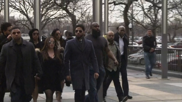 [CHI] Jussie Smollett Enters Court for Arraignment Hearing