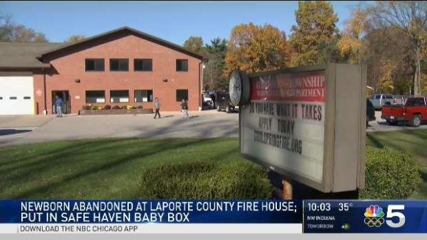 [CHI] Wrapped in a Sweatshirt, a 1-Hour-Old Baby is Placed in an Indiana Fire Station's Safe Haven Box