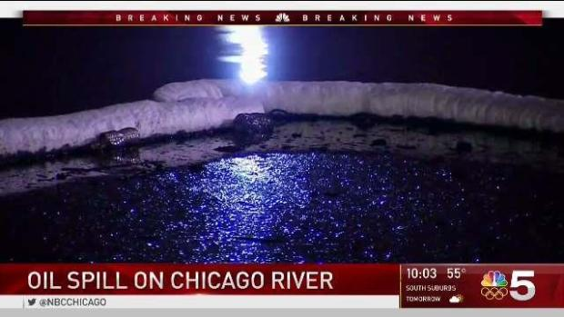 Oil spill closes part of Chicago River near Lake Michigan