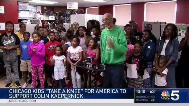 [CHI] Chicago Kids Take a Knee to Support Kaepernick