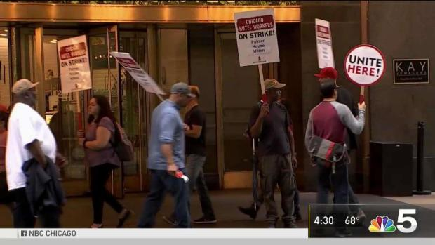 Hotel Workers Picket at Dozens of Hotels