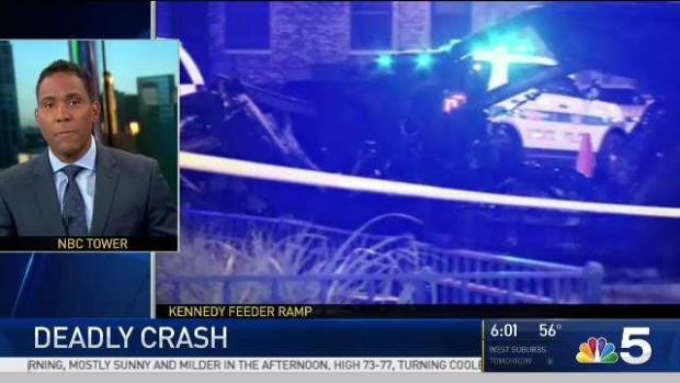 [CHI] Driver Missing After Fiery Crash Kills Passenger: Police