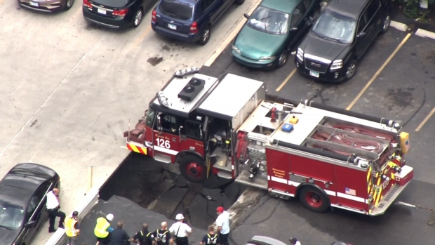 Parking Garage Collapses Under Chicago Fire Engine: CFD
