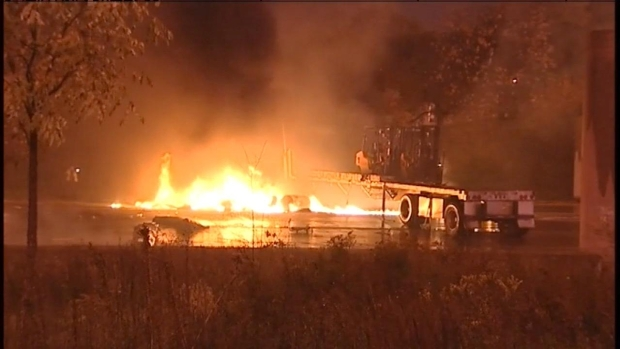 [CHI] I-57 Shut Down After Fiery Semi Crash