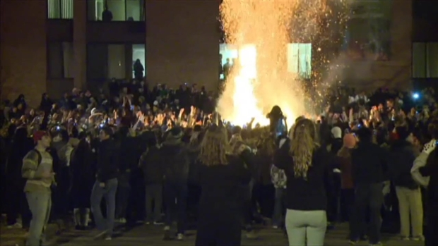 [CHI] Mich. State Fans Get Rowdy After Big Ten Title Win
